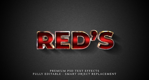 Effetto stile testo rosso, effetti di testo premium