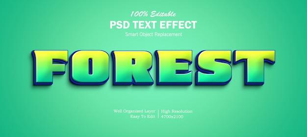 Effetto testo 3d foresta