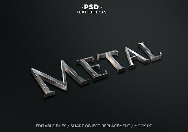Effetto testo 3d in metallo