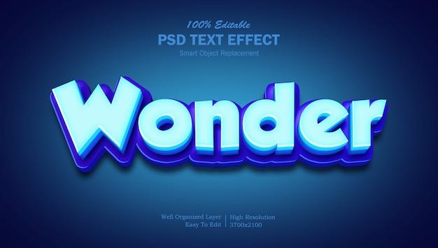 Effetto testo 3d wonder blue
