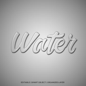 Effetto testo acqua