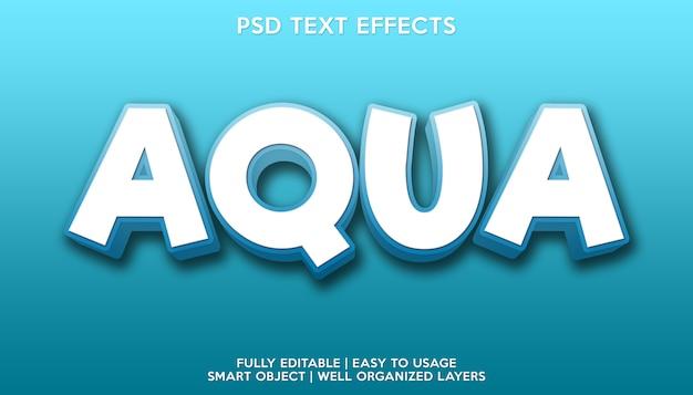 Effetto testo aqua
