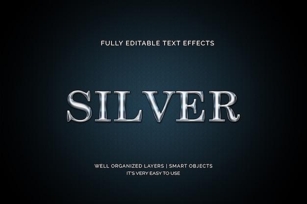 Effetto testo argento di lusso