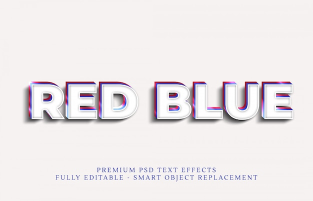 Effetto testo blu stile psd, effetti testo psd premium