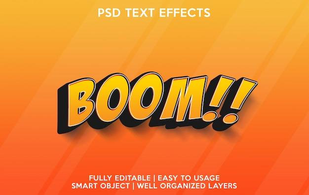 Effetto testo boom