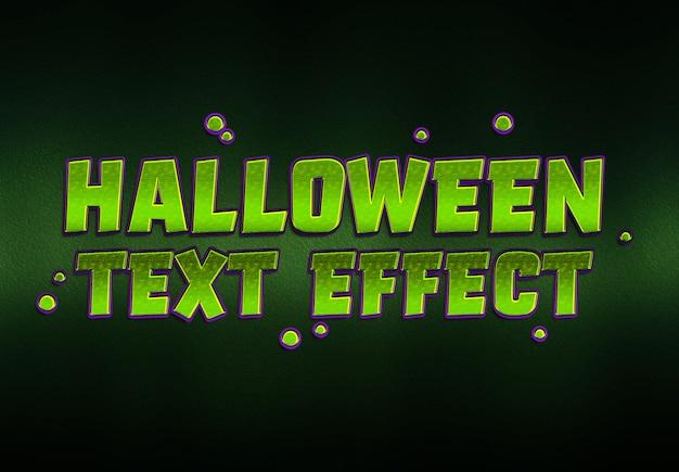 Effetto testo di halloween mockup
