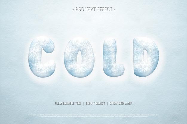 Effetto testo freddo