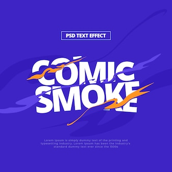 Effetto testo fumo fumetti