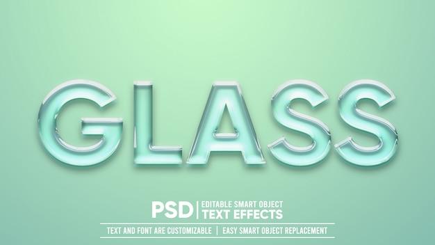 Effetto testo in vetro trasparente