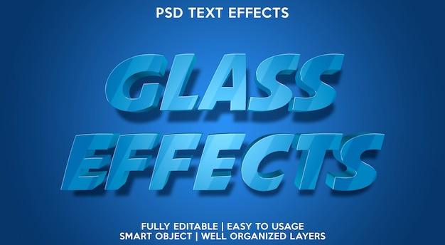 Effetto testo in vetro