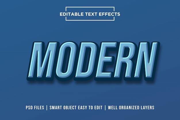 Effetto testo moderno