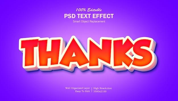 Effetto testo pop-up 3d grazie