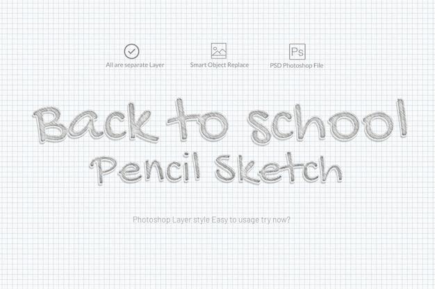 Effetto testo schizzo a matita