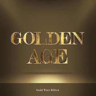 Effetto testo stile font caratteri d'oro