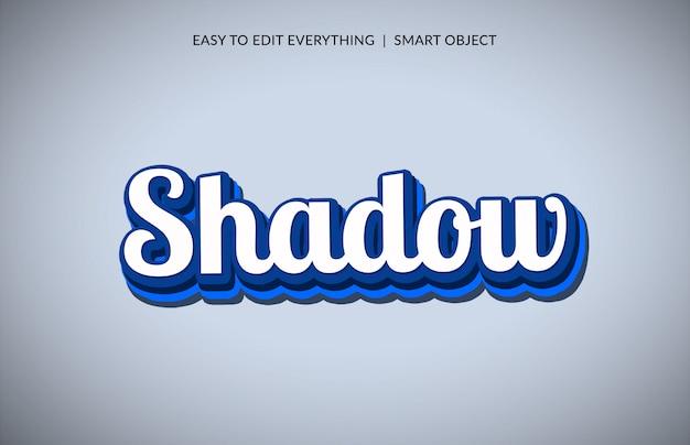 Effetto testo stile tratto ombra