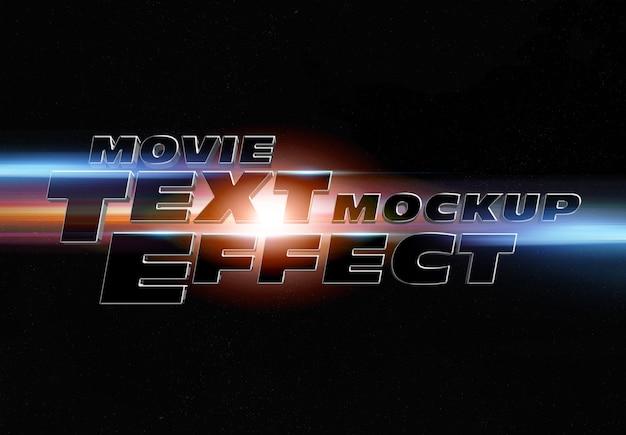 Effetto testo trailer del film mockup