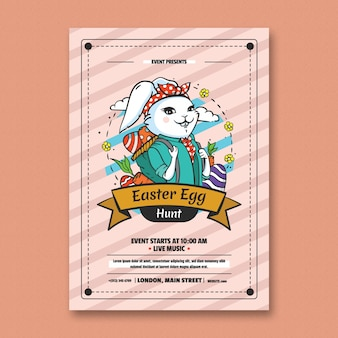Ei jagen easter flyer template