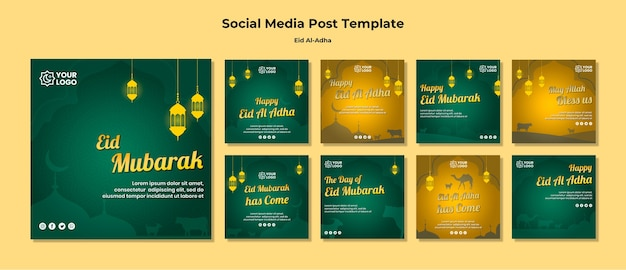 Eid al adha social media postsjabloon