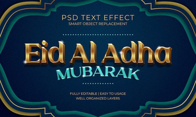 Eid al adha tekst effect