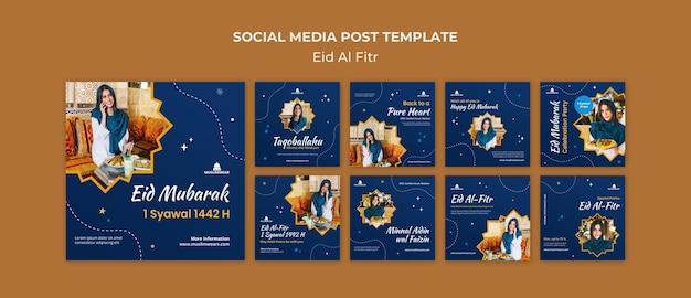 Eid al-fitr posts op sociale media