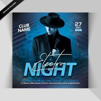 Electro nachtfeest flyer