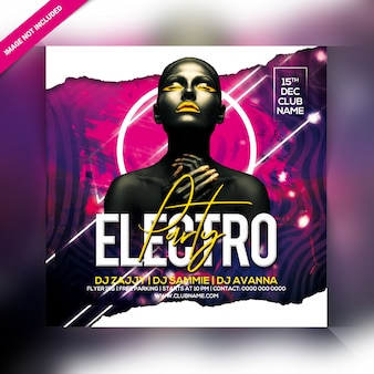 Electro party flyer