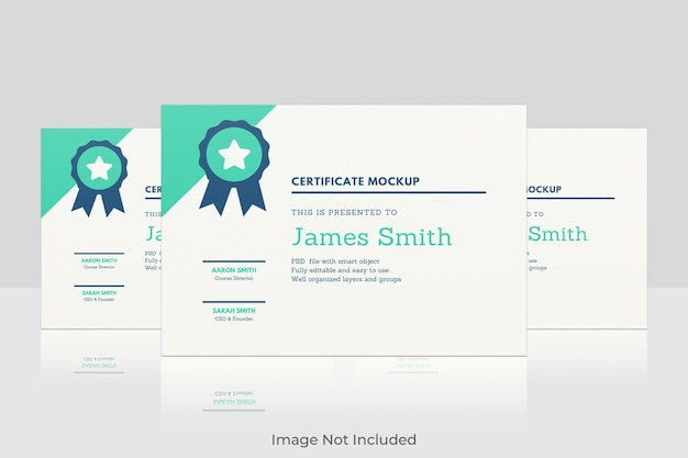 Elegant certificaat mockup-ontwerp
