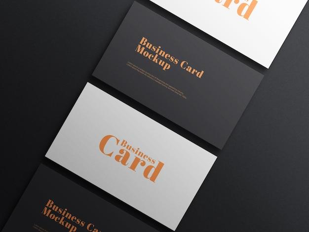 Elegant donker visitekaartje psd-model