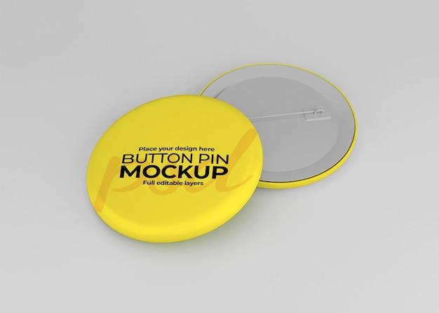 Elegant glanzend badge mockup ontwerp geïsoleerd