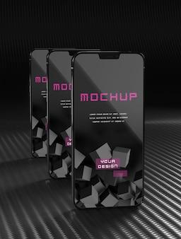 Elegant glanzend donker smartphonemodel