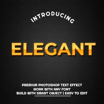 Elegant goud metaal - teksteffectsjabloon