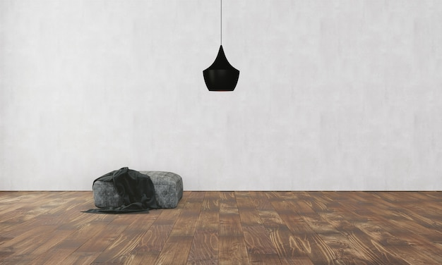 Elegant interieur met bank en lamp
