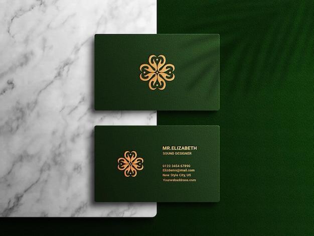 Elegant luxe visitekaartjemodel