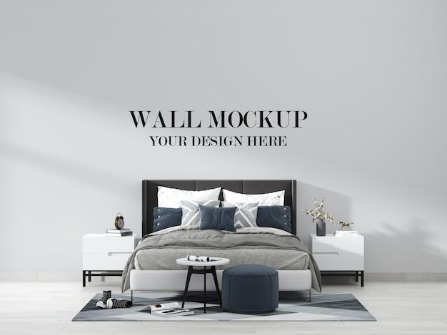 Elegant modern slaapkamermuurmodel