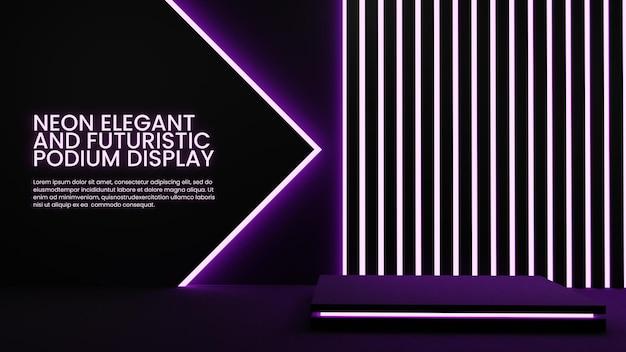 Elegant neon podium kleurrijke verlichting productdisplay