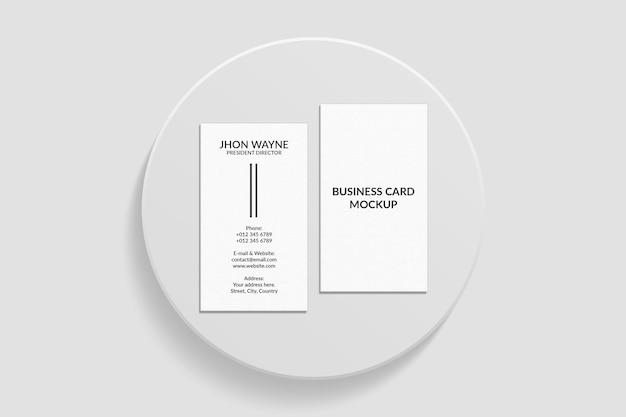 Elegant verticaal mockupontwerp voor visitekaartjes