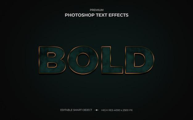 Elegant vetgedrukt mockup-teksteffect