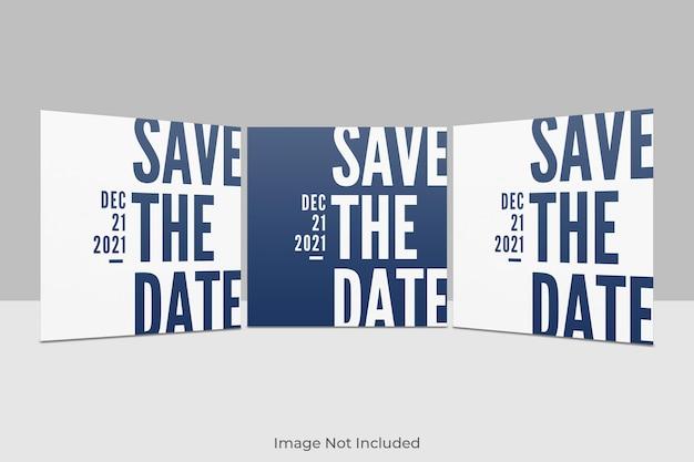 Elegant vierkant uitnodigingsmodel