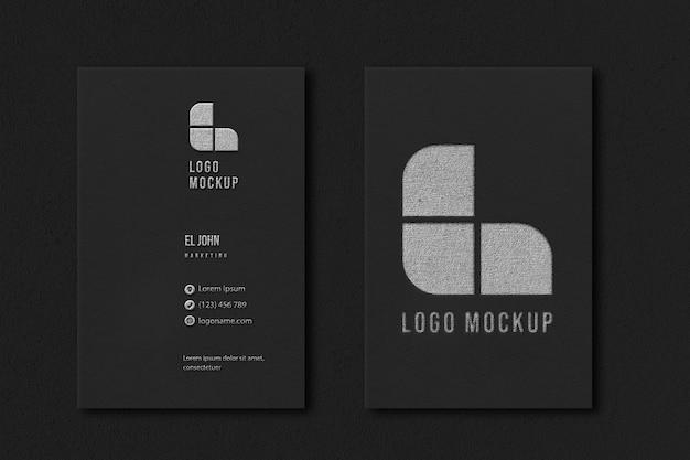 Elegant visitekaartje mockup-ontwerp