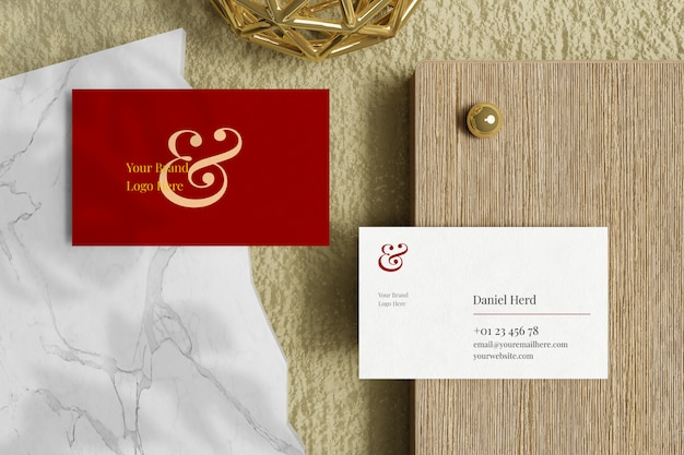 Elegant visitekaartje mockup