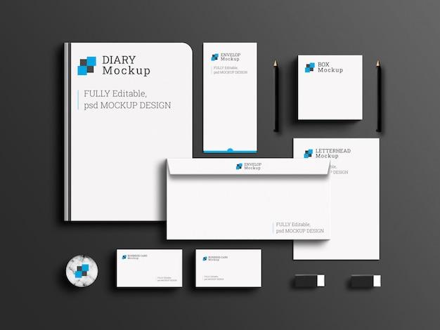 Elegant zakelijk merk briefpapier set mockup