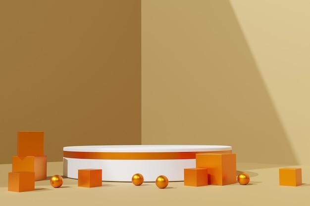 Elegante 3d abstracte podiumscène achtergrond
