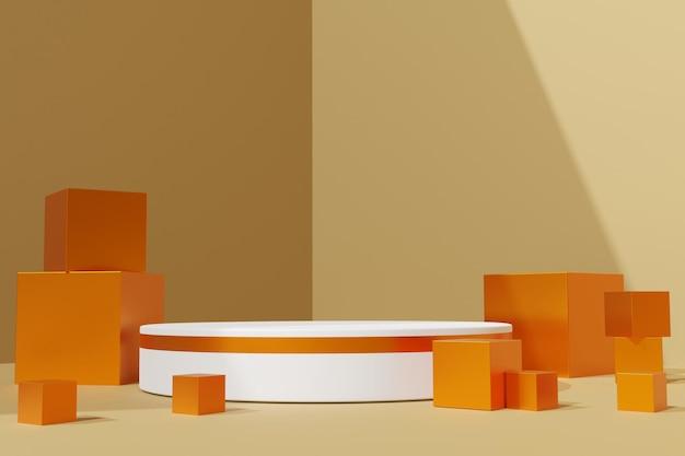 Elegante 3d abstracte podiumscène