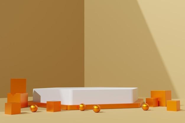 Elegante 3d render abstracte podiumscène