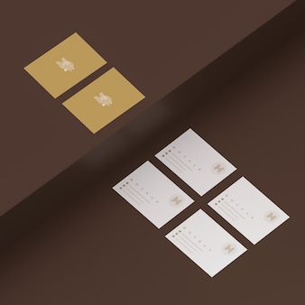Elegante 3d-scène met visitekaartje mockup
