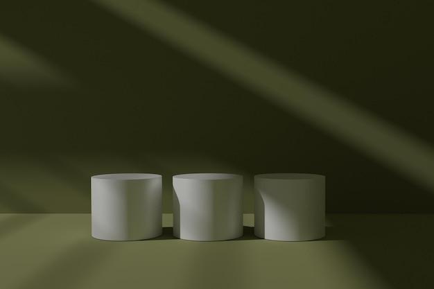 Elegante abstracte 3d podiumscène
