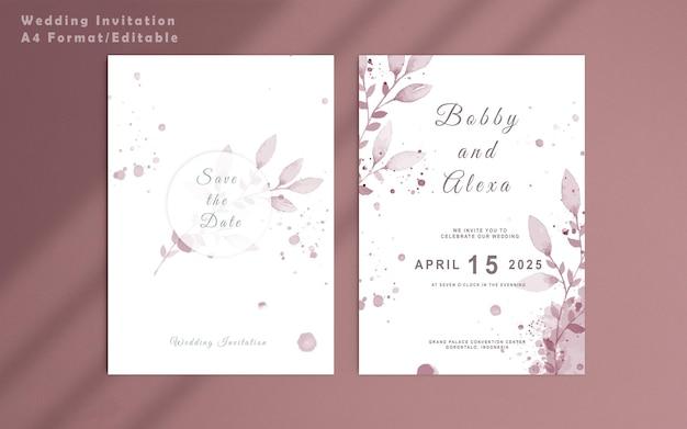 Elegante bloemensjabloon voor huwelijksuitnodigingen