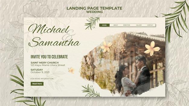 Elegante bruiloft bestemmingspagina sjabloon