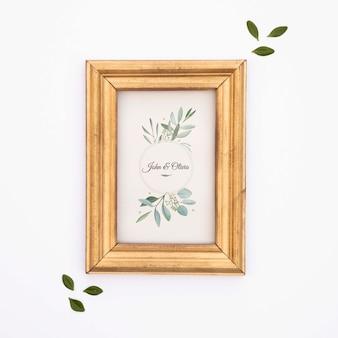 Elegante bruiloft frame