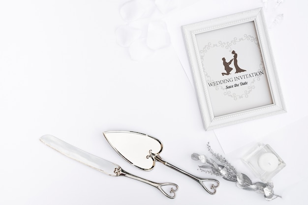 Elegante bruiloft uitnodiging frame